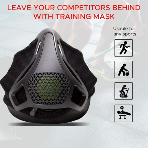 Sport Workout Training Altitude Mask, Size M for 150-249lbs