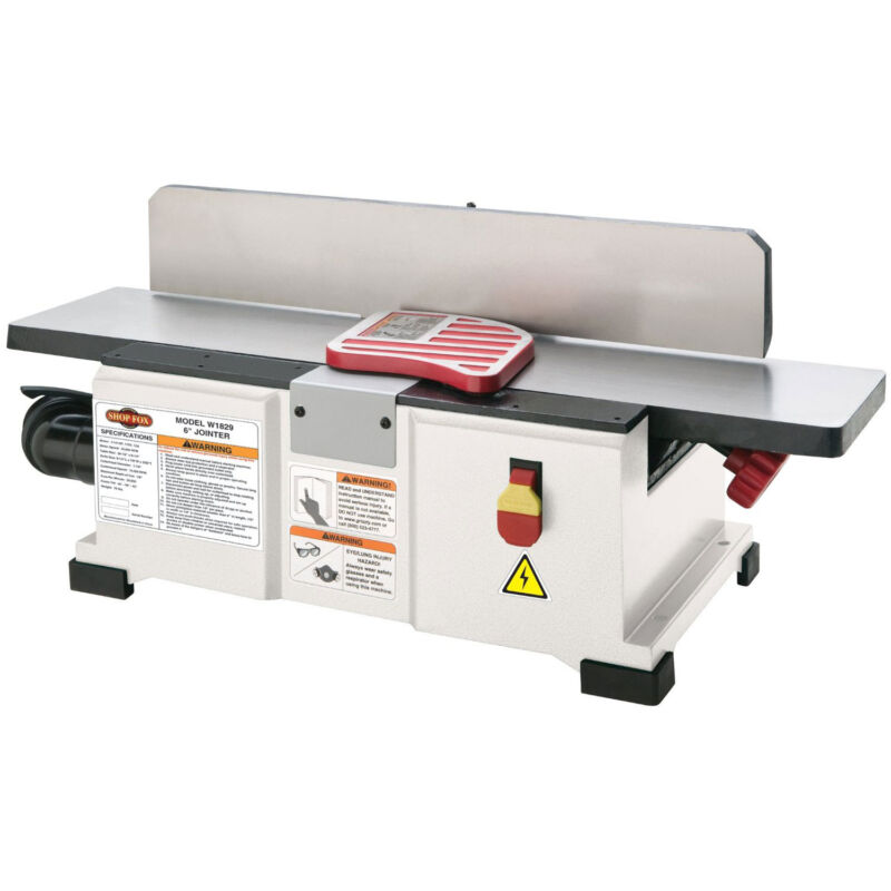 Shop Fox W1829 1-1/2 HP 110V 6-inch Fully Adjustable Benchtop Jointer