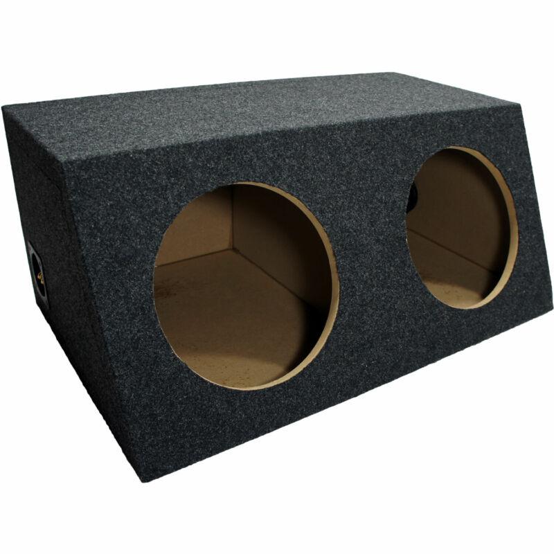"Car Audio Dual 10"" Sealed Subwoofer Salnted Hatchback Stereo Sub Box Enclosure"