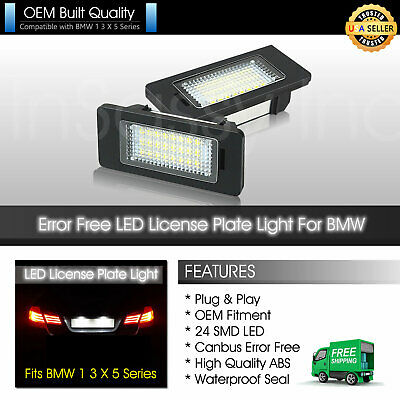LED License Plate Light for BMW 328i 335i 528i 530i 535i 428i X1 X3 X5 X6 Canbus