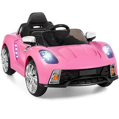 Electric Cars For Kids To Ride Toy Toddler 12V Girls With Music Pink Car NEW