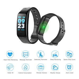 Bluetooth Smart Watch Heart Rate Blood Pressure Monitor Bracelet Fitness Tracker