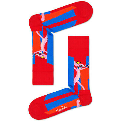 Happy Socks x Pink Panther Men's Crew Socks - Smile Pretty, Say -