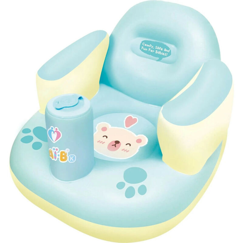 Nai-B K Hamster Inflatable Baby Chair Mint, for playing, eating, and lounging