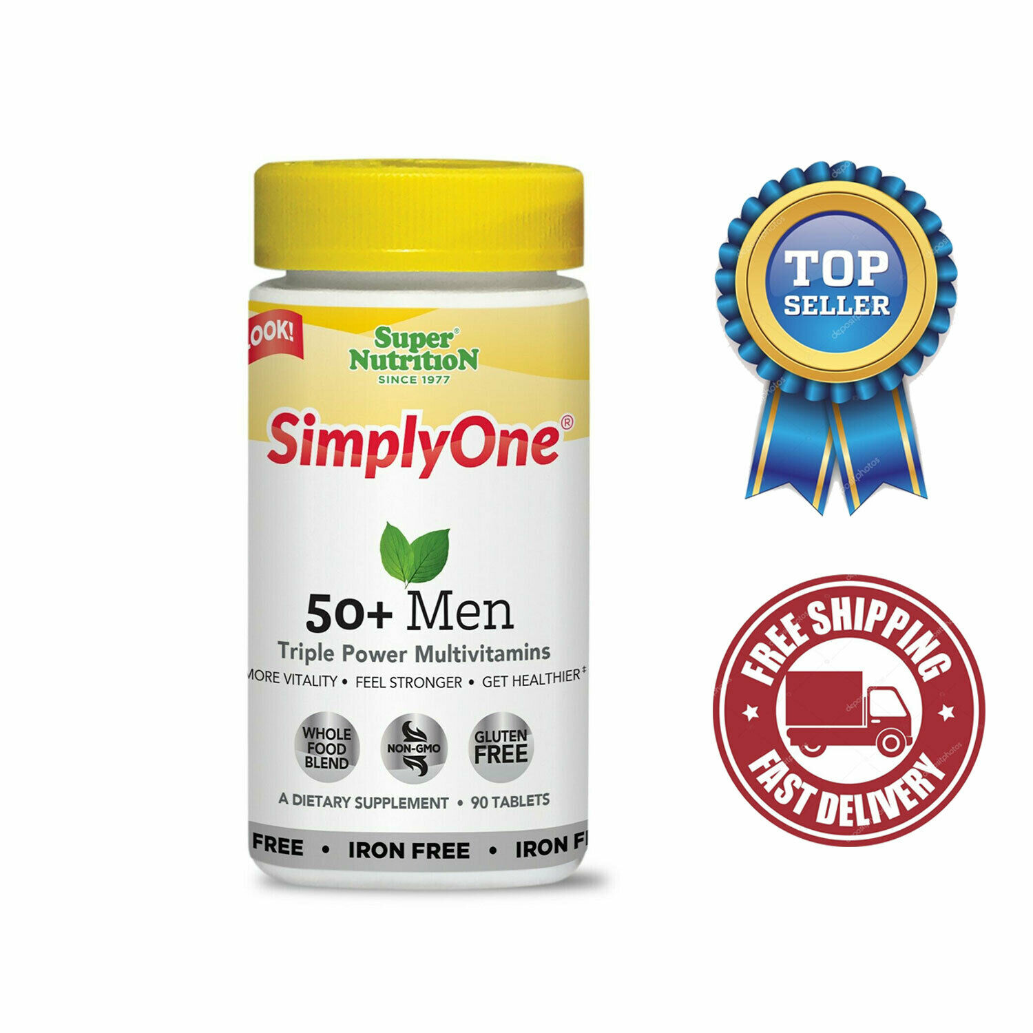 Simply One 50+ Men - I/F 90 Tablets by Super Nutrition