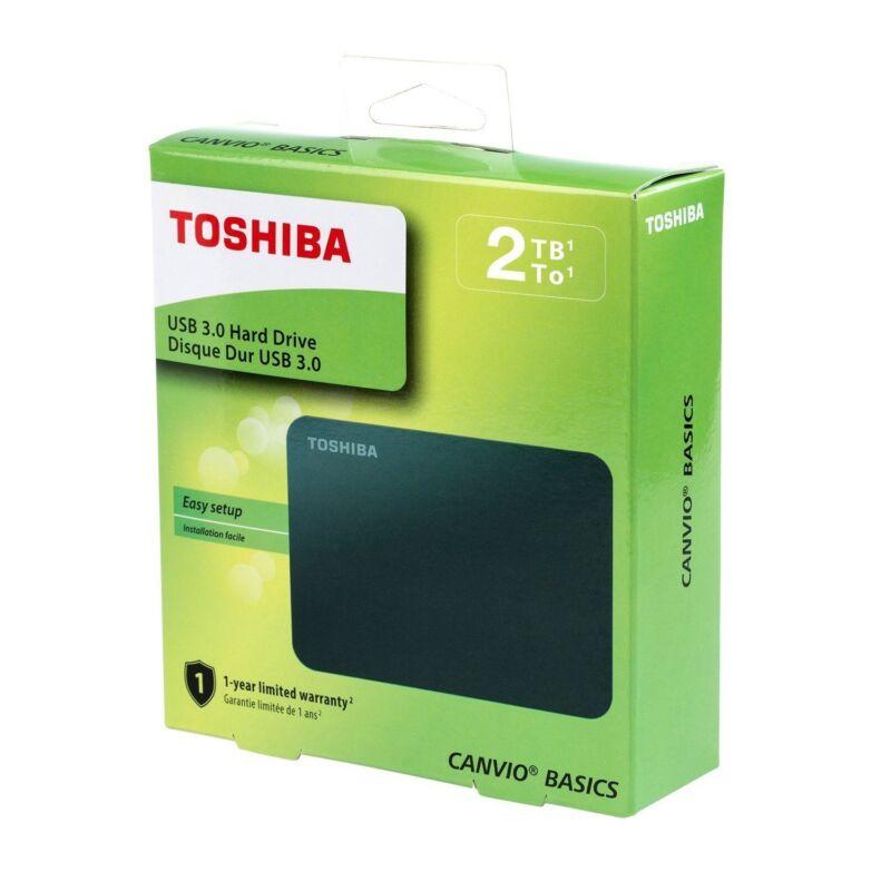 TOSHIBA 2TB Canvio Basics Portable Hard Drive USB 3.0 Model HDTB420XK3AA Black
