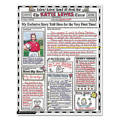 Scholastic Instant Personal Poster Sets Extra Extra Read All About Me 17