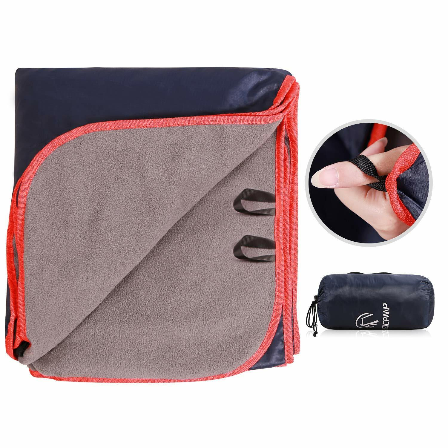 REDCAMP Outdoor Stadium Camping Blanket with Waterproof Back