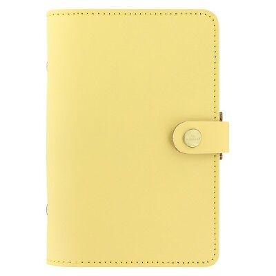 Filofax The Original Lemon Personal Size Leather Organizer Agenda Calendar Nd