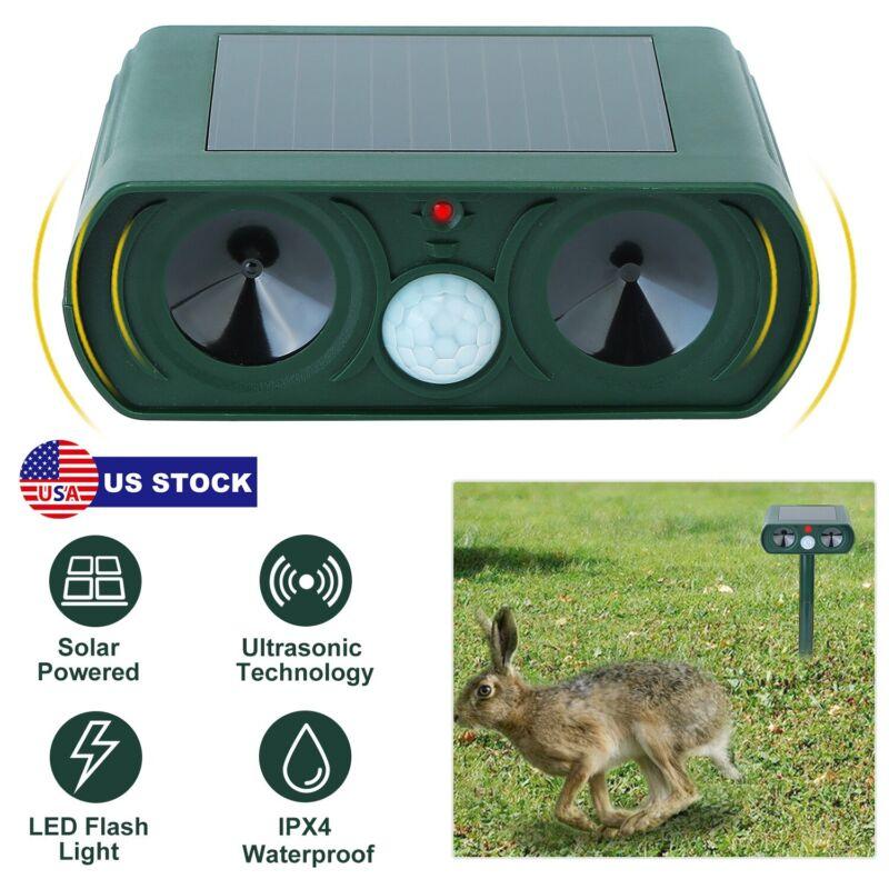 Solar Ultrasonic Animal Repeller Outdoor Repellent for Cats Dogs Bird Mice Pest