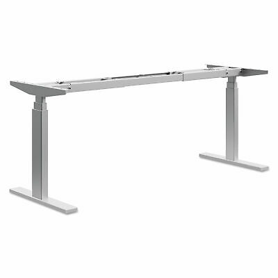Hon Power Adjustable Sitstand Table Base Nickel Finish 21 To 47 Height