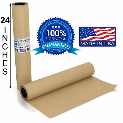 Brown Kraft Butcher Paper Roll - Long 24 Inch X 175 Feet 2100 Inch - Food G...