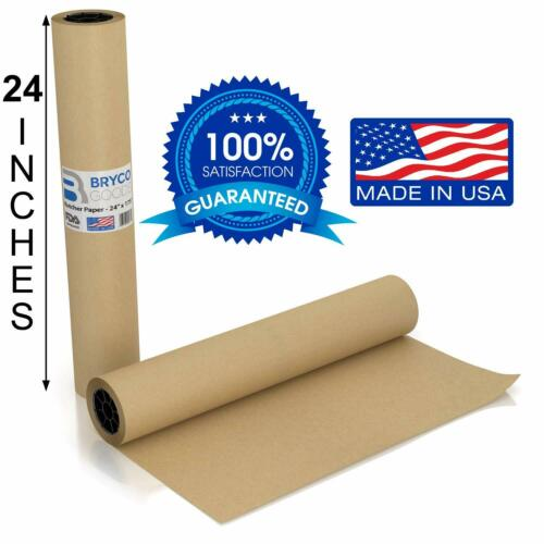 Brown Kraft Butcher Paper Roll - LONG 24 Inch x 175 Feet (2100 Inch) - Food G...
