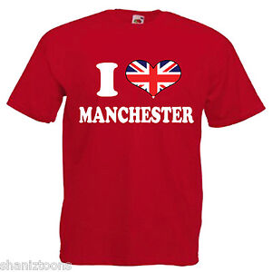 I-Love-Heart-Manchester-Adults-Mens-T-Shirt-12-Colours-Size-S-3XL