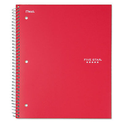 Five Star Wirebound Notebook College Rule 11 X 8 12 100 Sheets Red 72053
