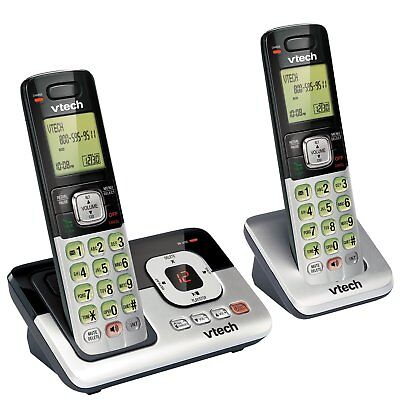 Vtech DECT 6.0 2 Handset Cordless Phone Digital Answering System Called ID Expan