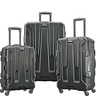 Samsonite Centric 3pc Nested Hardside (20/24/28) Luggage Set, Black