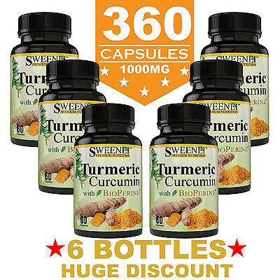 Turmeric Curcumin Premium With Bioperine   95  Curcuminoids 1000Mg 360 Capsules