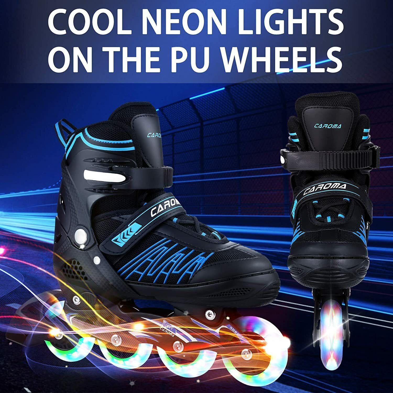 Caroma Inline Skates Skating Shoes Roller Skates  Flashing W