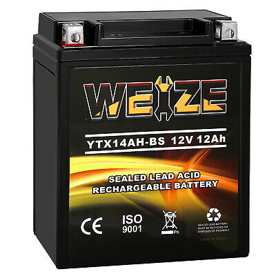 Weize YTX14AH-BS High Performance Maintenance Free AGM ATV Motorcycle Battery