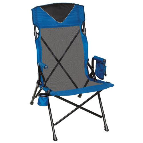 Portable Chair High Back Ergo Folding Seat Outdoor Camping Picnic Beach Fishing