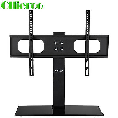 "مكتبة تلفزيون جديد 27-70"" Universal Tabletop TV Stand/ Base with Mount 110 lbs Height Adjustable"
