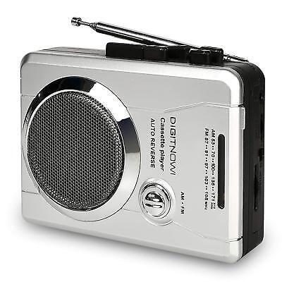 Portable AM/FM Radio&Voice Audio Cassette Player Recorder with Speaker&Earphone