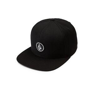 2ef3b3f307e17 Volcom Quarter Twill Hat Snapback D5511561 Black Size Adjustable for ...