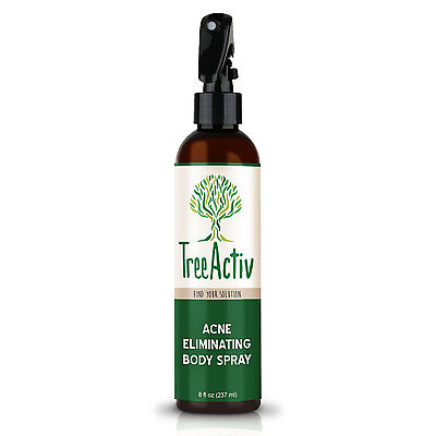 TreeActiv Acne and Pimple Body Spray Treatment for Back Chest Butt Thighs 8 oz