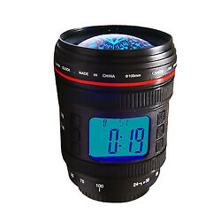 Camera Zoom Lens Music Starry Star Night Projection Alarm Clock Calendar Black