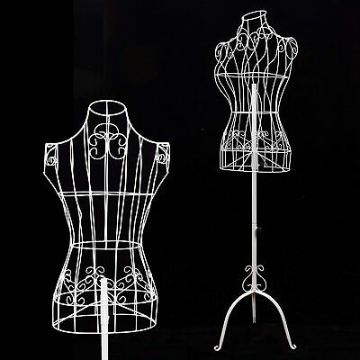 Gex Female White Metal Steel Wire Mannequin Dress Form For Sewing Display