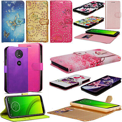 For Motorola G7 / Play / Plus / Power Leather Wallet Case Flip Stand Case Cover