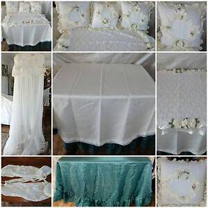 Queen Bed Mosquito Net Canopy Linen Table Cloths Throw Pillows Windsor Hawkesbury Area Preview