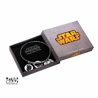 Star Wars Han Solo And Princess Leia Stainless Steel Womens Bracelet (Han Solo And Leia)