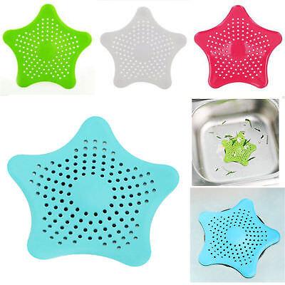 Silicone Sink Strainer (Star Silicone Bath Kitchen Waste Sink Strainer Hair Filter Drain Catcher)