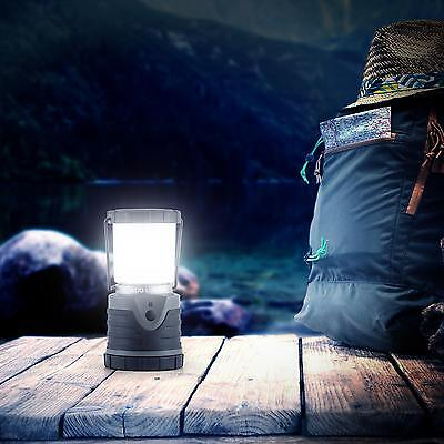 CAMPING-LEUCHTE CREE LED 400 LUMEN LATERNE LAMPE LICHT 150 STD DAUERBETRIEB GRAU