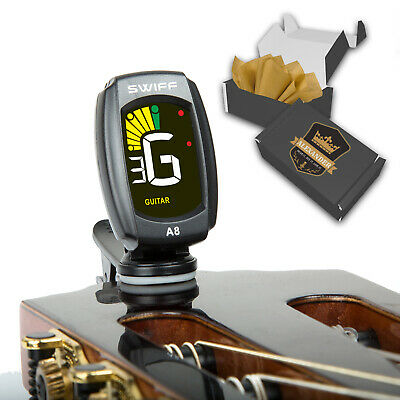 Rotating Clip-On Tuner for All Instruments Guitar, Bass, Violin, Ukulele