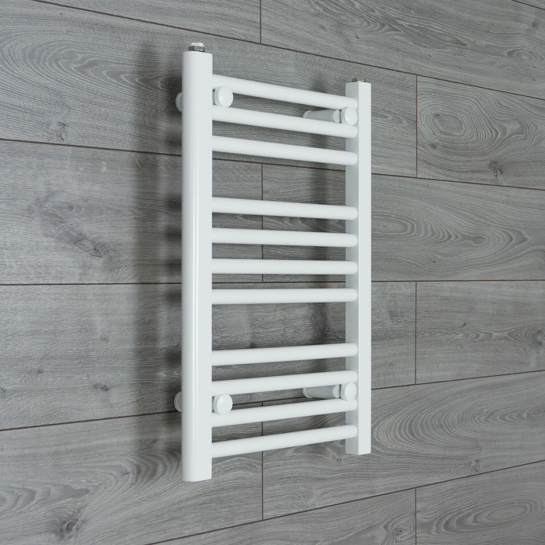 Heated Towel Rail Replace Radiator: 350 Mm Wide White Ladder Heated Towel Rail Radiator