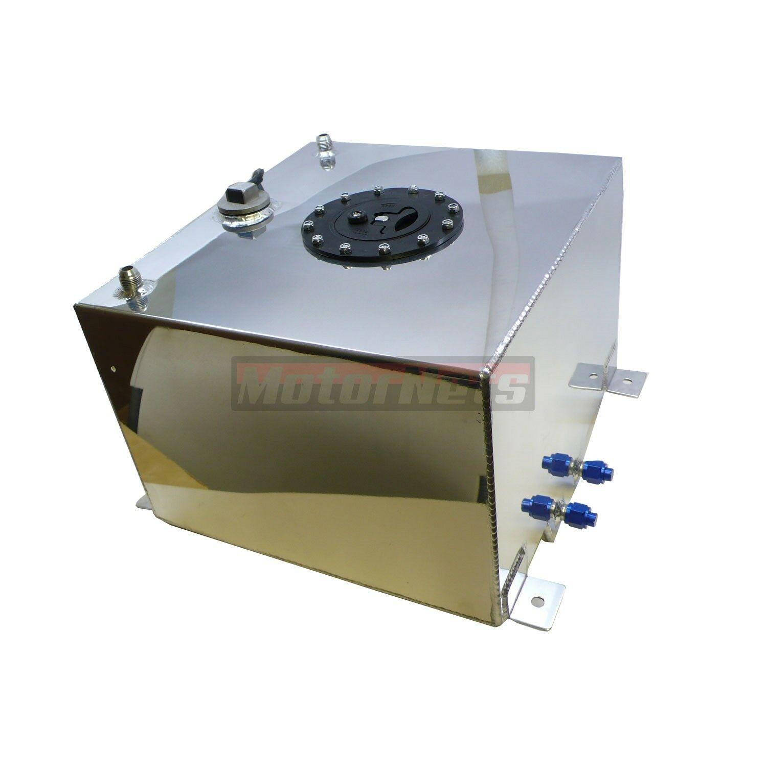 Details about 10 Gallon Fabricated Aluminum Fuel Cell Gas Tank With 0-90  Ohm Sending Unit SBC