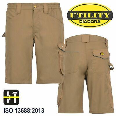 Pantaloni da Uomo DIADORA per Lavoro Pantaloncini Corti Bermuda Estivi Blu L XL