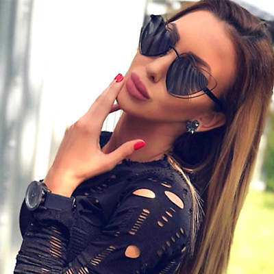 Designer Oversized LOVE Heart Shaped Sunglasses Large Metal Frame Women Fashion (Love Heart Shaped Sunglasses)