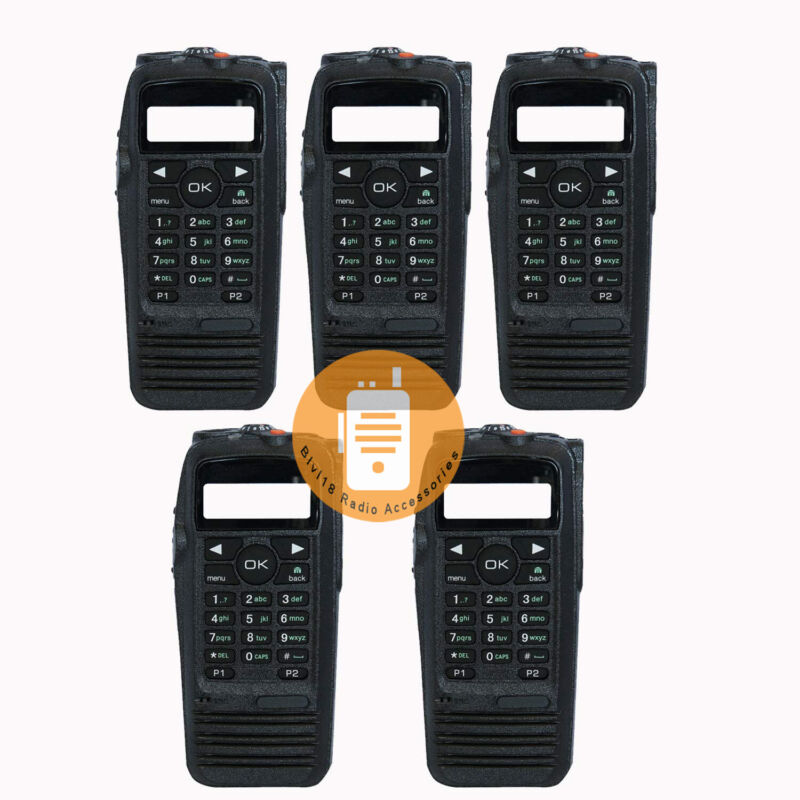 5Pack Radio XPR 6550 Housing Case W/ Speaker for Motorola Radio XPR6550 Cover