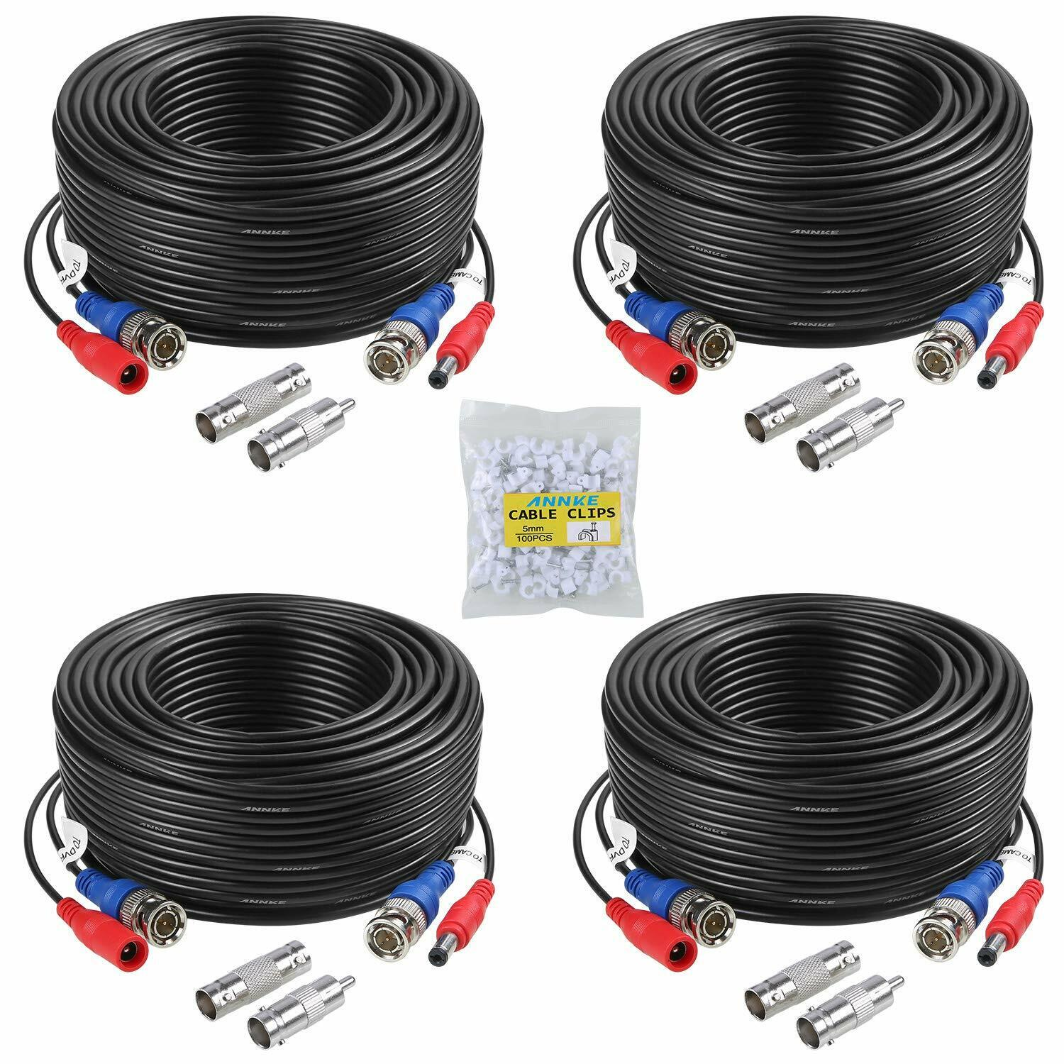 Premium Quality 4x100Ft Video&Power Cable for Night Owl HD C