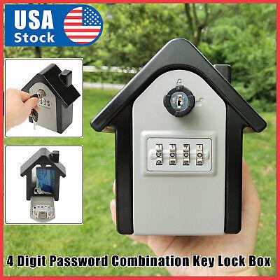 Durable Key Lock Box Wall Mount Safe Security Storage Case Organizer