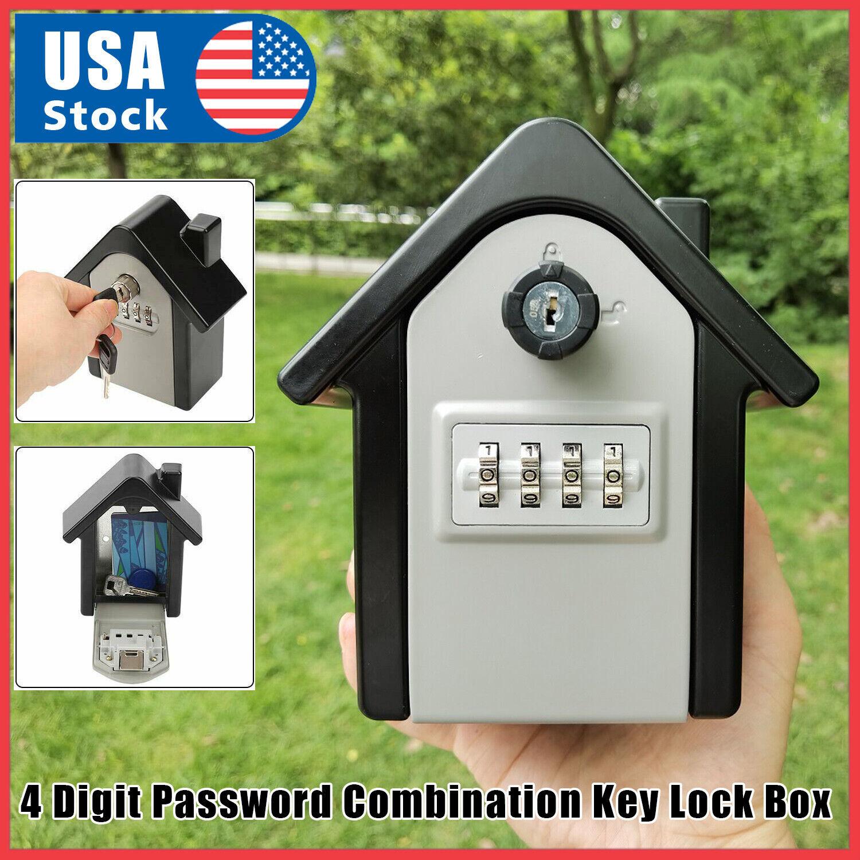 Durable Key Lock Box Wall Mount Safe Security Storage Case Organizer Access Control Equipment