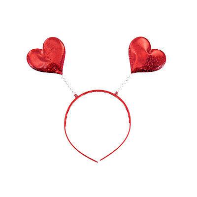 2 Glitzer Herzen Kostüm Accessoire Karneval Fasching uvm. (Kostüm Haar-accessoires)
