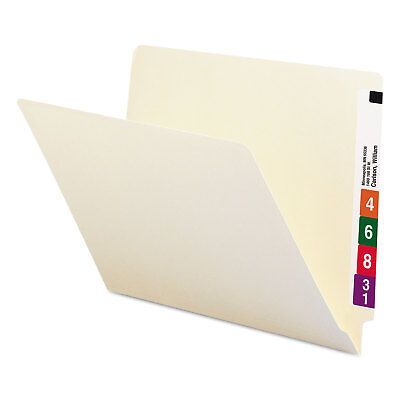 Smead Shelf Folders Straight Cut Single-Ply End Tab Letter Manila 100/Box