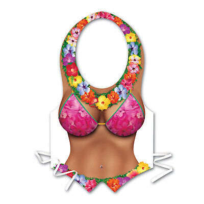 Plastic Hula BEACH BABE CLEAVAGE Vest Luau Hawaiian Party DECORATION COSTUME](Hula Party Supplies)