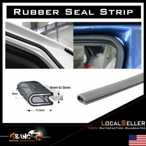 "120"" Car Rubber Seal Auto Edge Trim Guard Door Lock Decorate Noise Proofing"