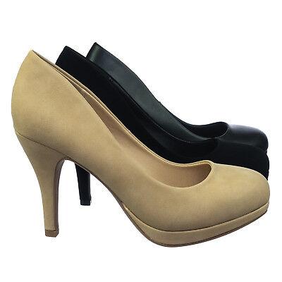 Stair Wide Width Platform High Heel Dress Pump In Comfort Foam Padded Insole (Wide Platform Pumps)